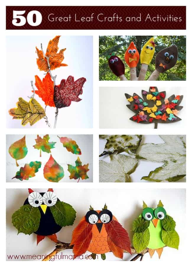 50 great leaf crafts and activities kids