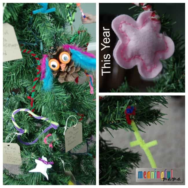 humble Christmas tree kid decorated