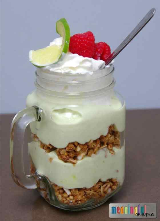 Healthy Key Lime Pie Breakfast Parfait with Kashi - Oats Made Great