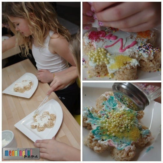 Rice Krispies Treats - Spring Flower Decorating for Kids