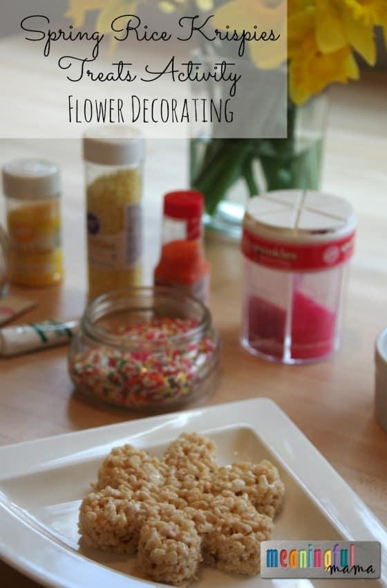 Spring Rice Krispies Treats Activity - Flower Decorating