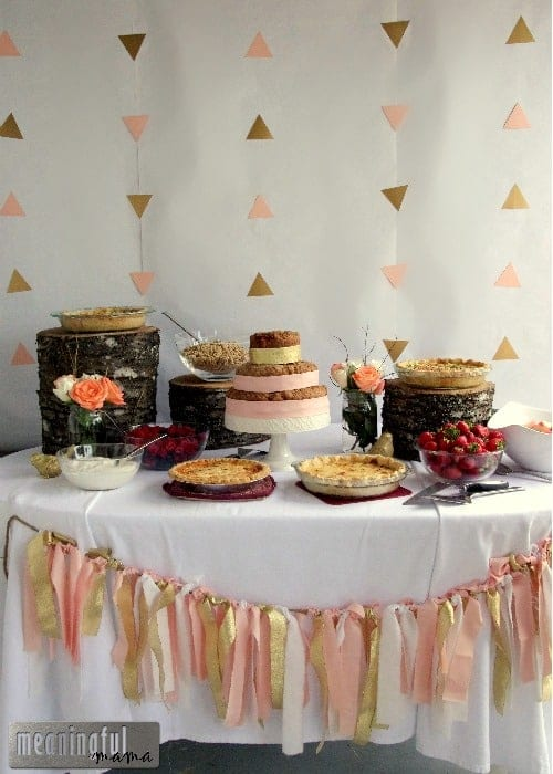 Peach And Gold Natural Baby Shower Brunch