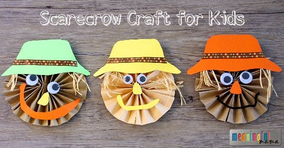 Cute Scarecrow Pinwheel Paper Craft for Kids