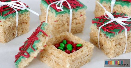 rice krispies treats presents with a