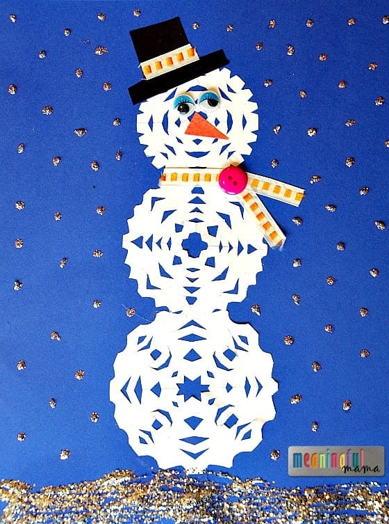 Snowflake Snowman Craft for Kids Nov 24, 2015, 2-07 PM