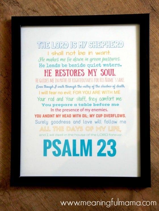 Psalm 23 Free Printable Framed Jan 28, 2016, 12-31 PM