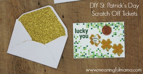 St. Patrick's Day DIY Scratch off Ticket for Kids 1 Feb 23, 2016, 3-13 PM Feb 23, 2016, 3-13 PM. Patrick's Day DIY Scratch off Ticket for Kids Feb 23, 2016, 3-13 PM