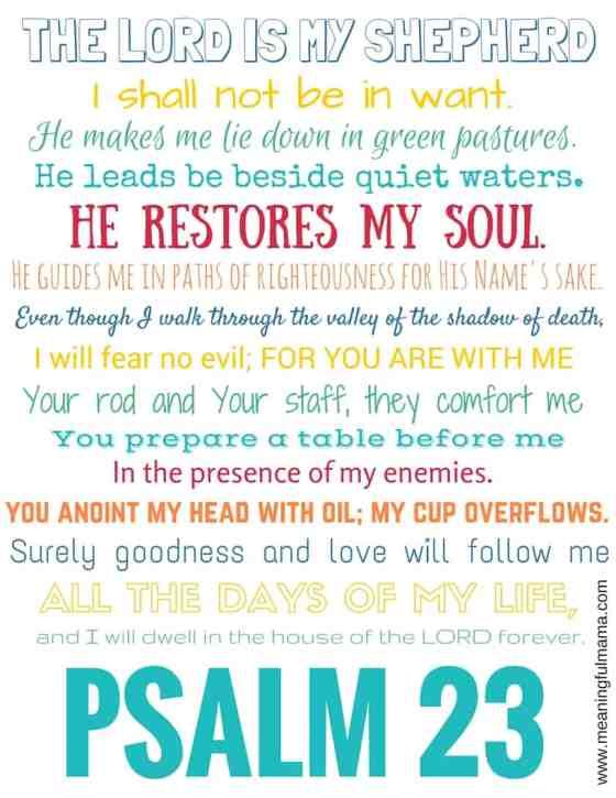 The LORD is my shepherd printable (1)