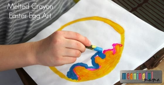 Melted Crayon Easter Egg Art for Kids