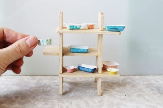 Best DIY Dollhouse Furniture DIY Dollhouse Pyrex Dishes     You will be amazed at her clever solution for  making Pyrex Dishes