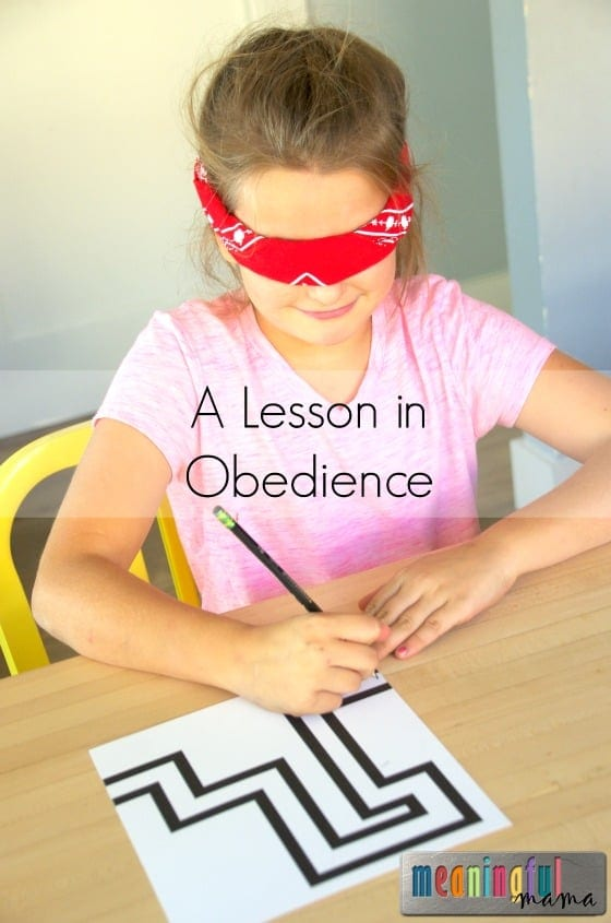 Blindfolded Maze Game Teaches Obedience
