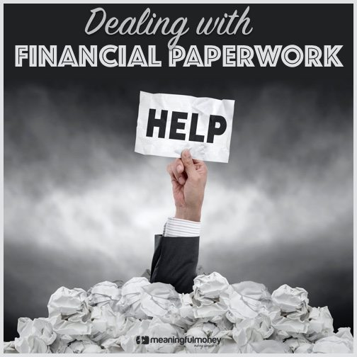 Dealign with financial paperwork
