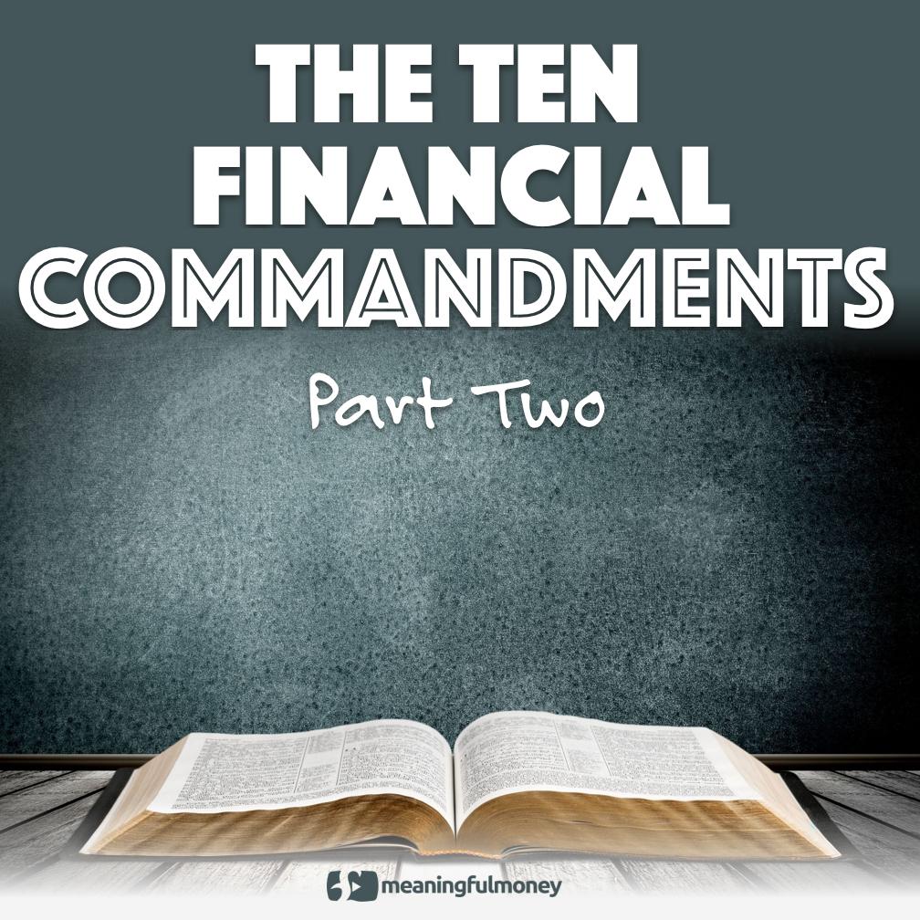 The Ten financial Commandments