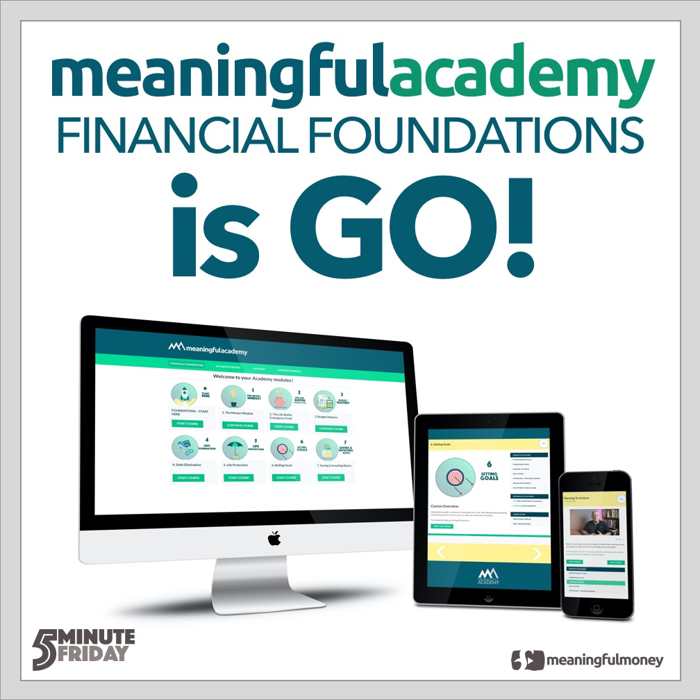 Meaningful Academy Financial Foundations is GO!