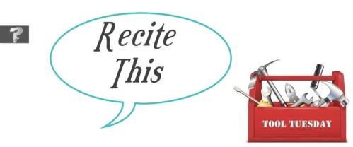 Tool Tuesday:  ReciteThis