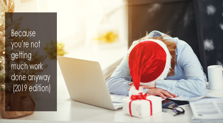 business woman businesswoman freelancer tired, asleep working at computer at Christmas