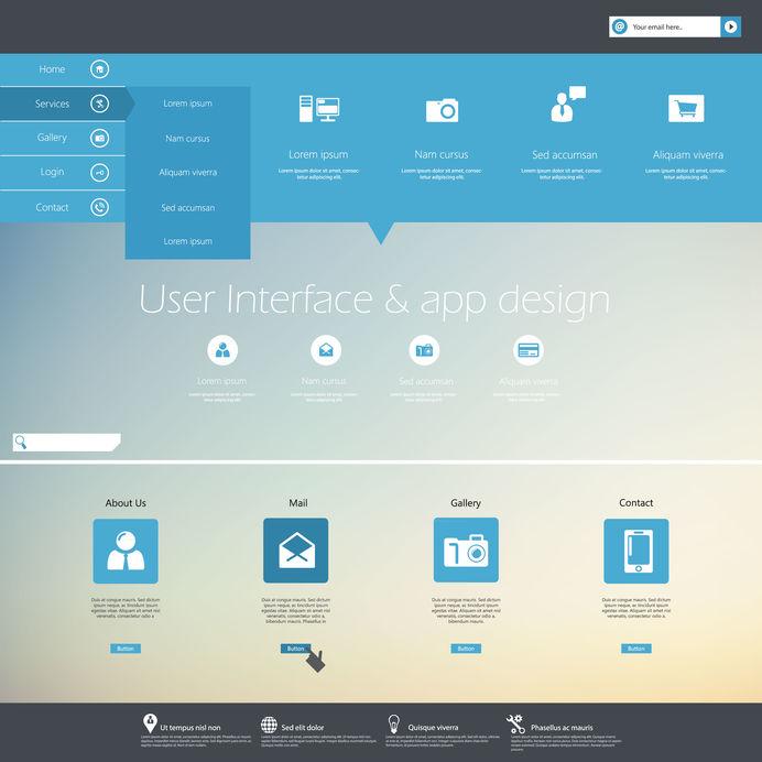 eb site design menu navigation elements.