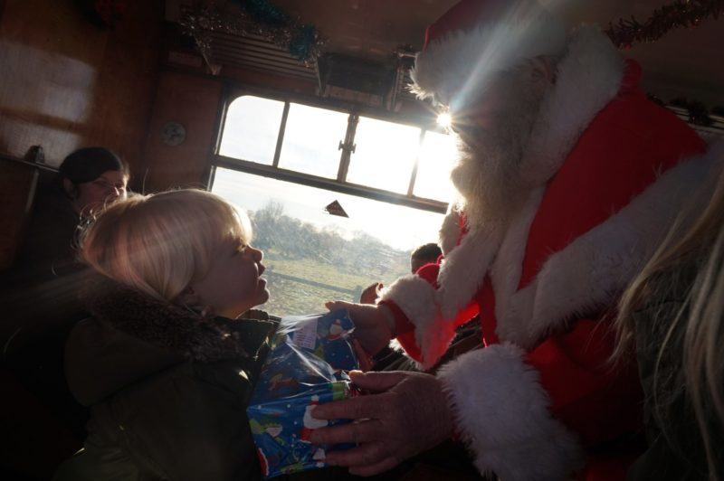 Santa Special at Murton Park santa presents