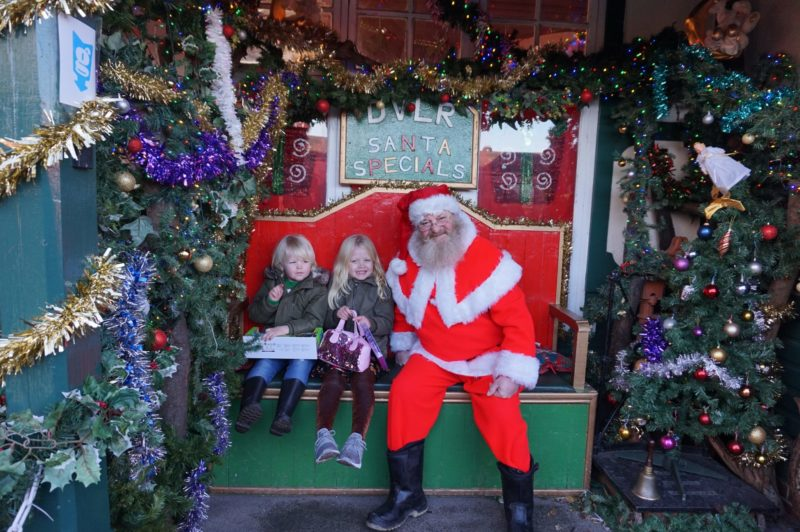 Santa Special at Murton Park photo with santa