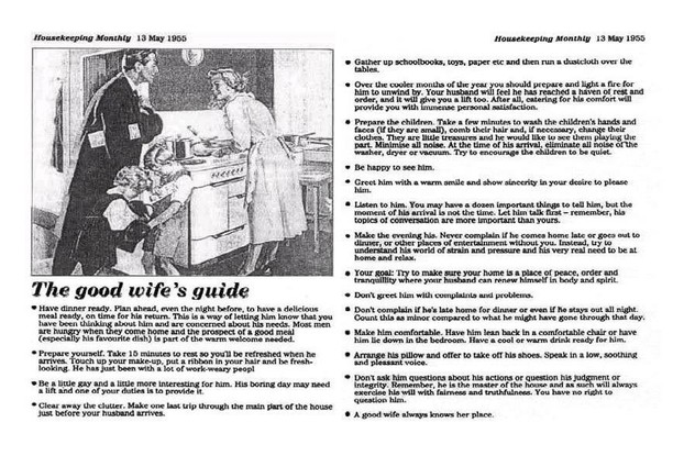 Housekeeping Weekly #goodwifeguide #goodwife #housekeepingweekly