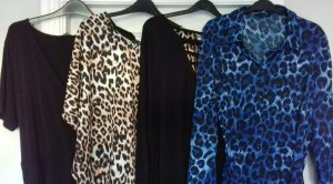 Simply Be Autumn Winter Black and animal print tops.