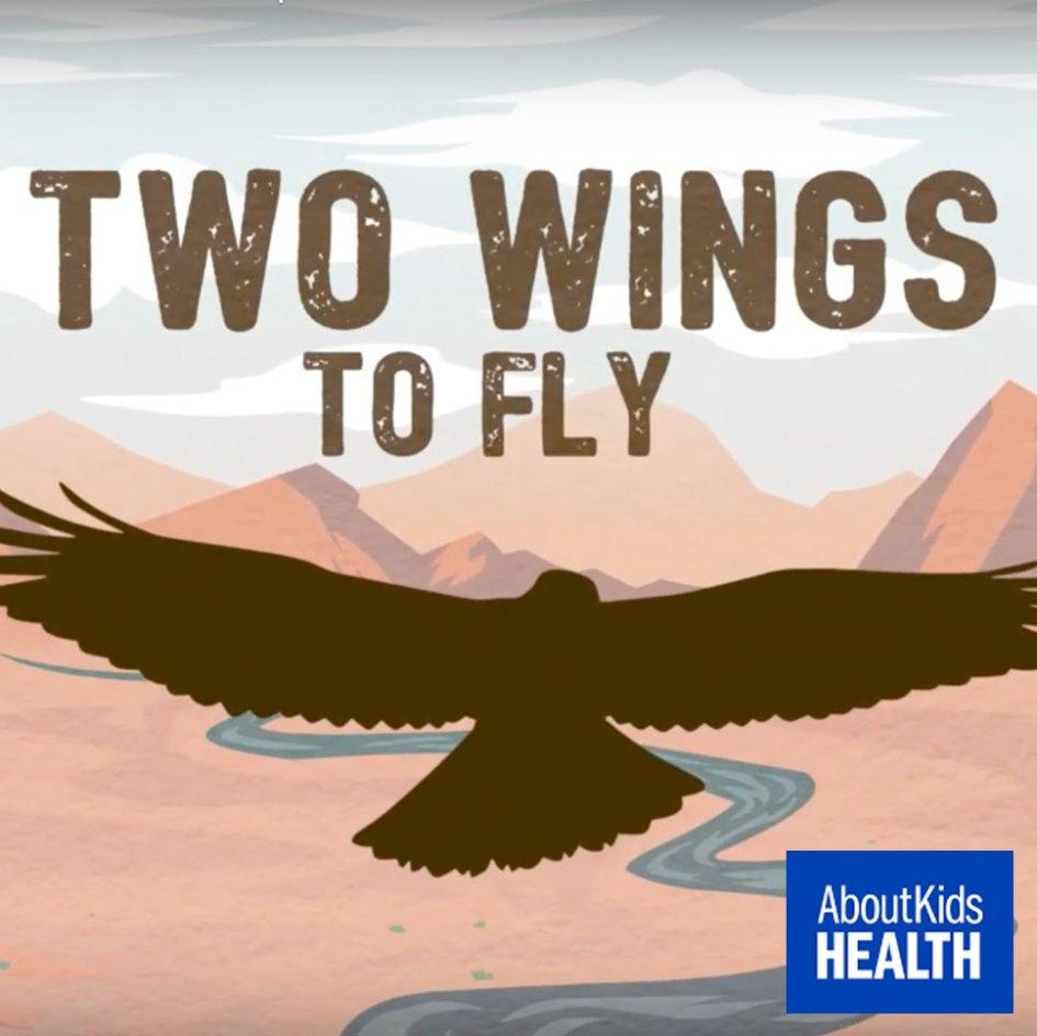 graphic of bird flying over desert