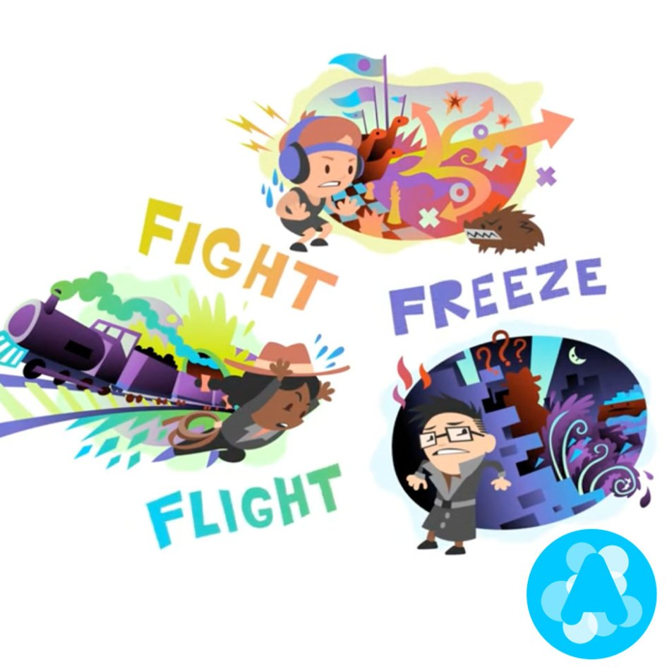 fight flight freeze video still anxiety canada