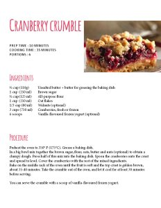 cranberry third page branche sante food cards