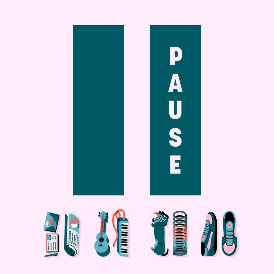 Pause your screen logo