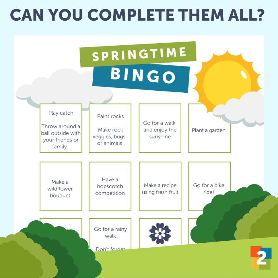 Springtime Bingo card