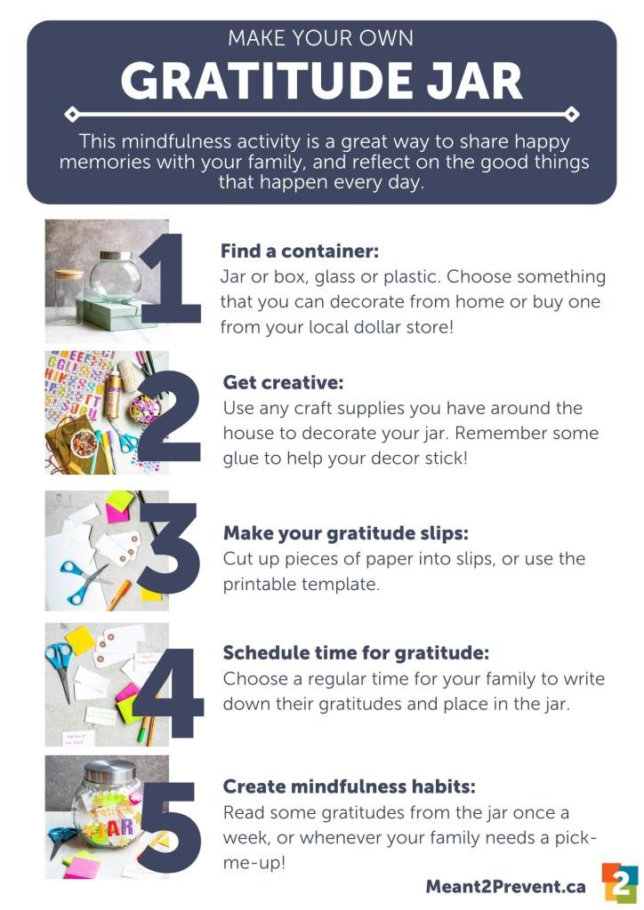 Steps gratitude jar