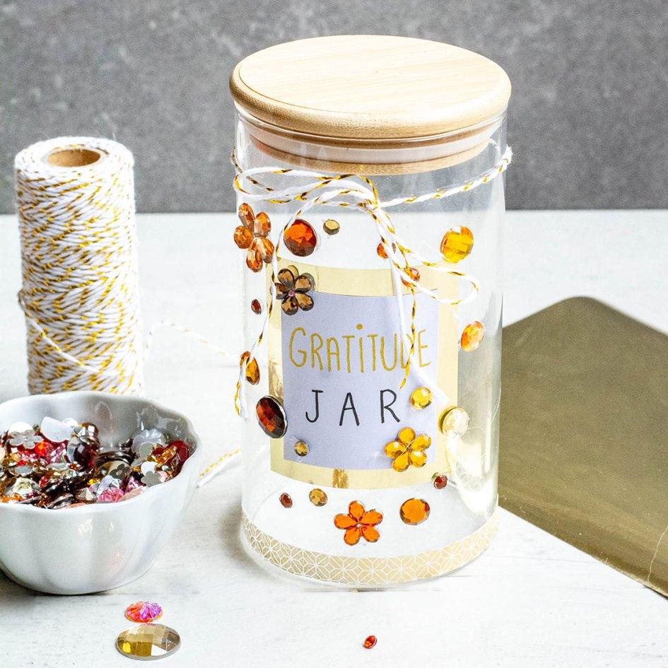 gratitude jar decorated