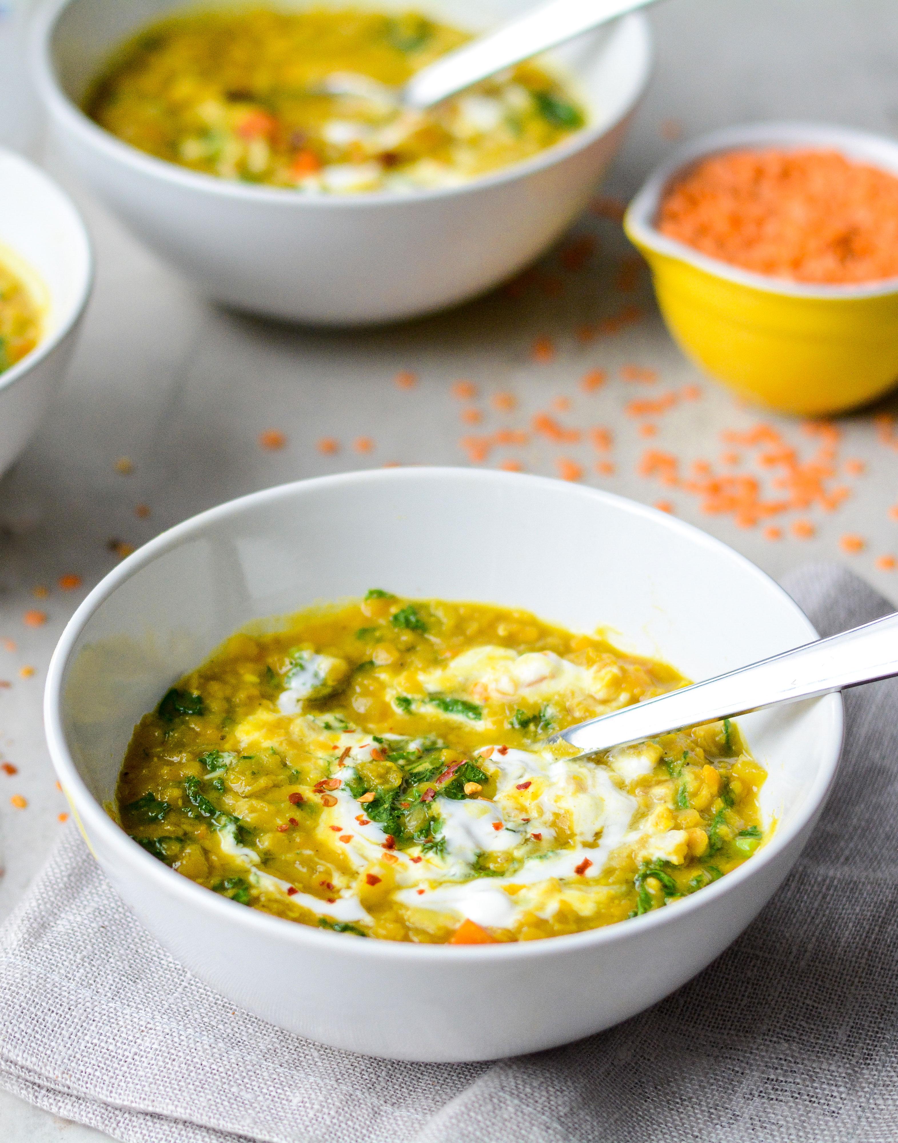 lentil soup image close up