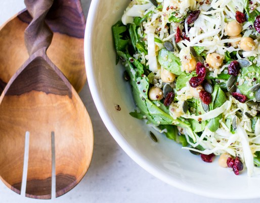 chickpea quinoa salad with cranberries