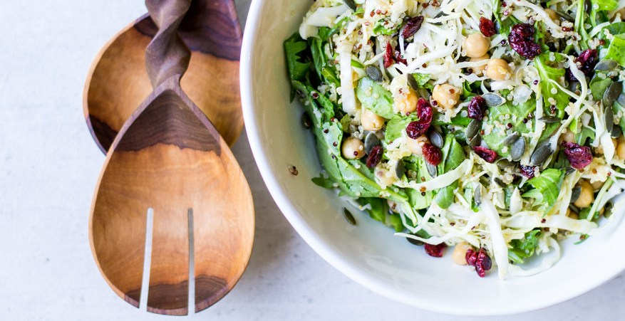 chickpea quinoa salad with cranberries