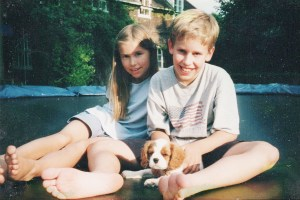 Lara and Jamie - another photo from the family album