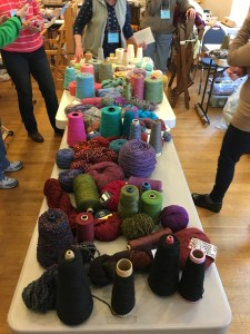 Sorted yarns in color