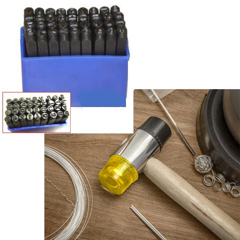 EXTREME SGD - CLEARANCE - 36 Piece Number & Letter Punch Set with Dual Head 8oz Mallet Combo Set! You get BOTH the Number / Letter set AND the Mallet! Great for custom jewelry etc - SHIPS FREE!