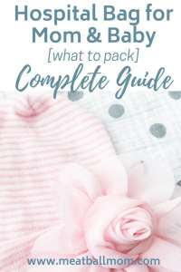 Hospital Bag for Mom & Baby: What to Pack The stork is about to arrive and you're unsure what to pack in your hospital bag for you and baby. This guide shares all the must haves, nice to haves, and items not necessary during your stay. #laborbag #hospitalbag #pregnancy #whattopack #labor #baby #mom