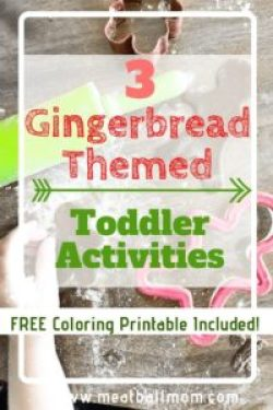 I'm sharing 3 Gingerbread Themed Toddler Activities (one recipe, one book,and one craft) for you and your little ones to enjoy!