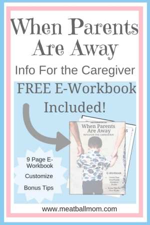 A Caregiver Binder is a great way to provide crucial and helpful info to your caregiver.   It allows you to keep things consistent for your caregivers and your children.  And to keep YOU mama, from stressing out! #babysitterbinder #babysitter #caregiverbinder #travel #familytravel #parenting #kids #babysittingtips #babysittinghacks #nannybinder #freeprintable #printable #workbook