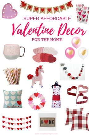"""I've pulled together some Valentine decor for the home for you and your family to enjoy. Each of these items are fun and festive and are each less than $20! And who wouldn't """"LOVE"""" that?! #valentinesdaydecor #valentinesday #valentinesdaydecorations #valentinesdayideas #valentinedecor #valentinedecorations"""