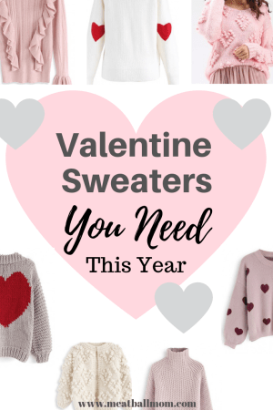 Valentine's Day may only be one day, but cute sweaters last all season! These adorable Valentine sweaters are too sweet to miss for Valentine's Day. And you can continue cozying up in them all winter long! #valentinesweaters #valentinestyle #momstyle #fashion #sweaters #winterstyle #valentinesideas #styleideas