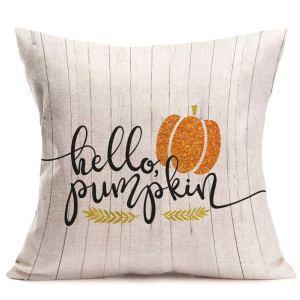 hello pumpkin throw pillow cover