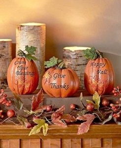 inspirational pumpkin set