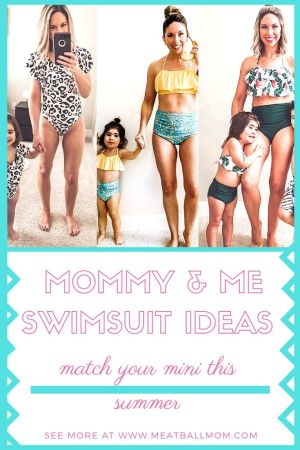 I love matching outfits, especially matching with my kids. When my little girl was old enough to walk, I bought the first of our matching mother daughter swimsuits. #matchingswimwear, #matchingbathingsuits, #familymatchingswimwear, #mommyandmebathingsuits, #mommyandmeswimwear #motherdaughterswimsuits