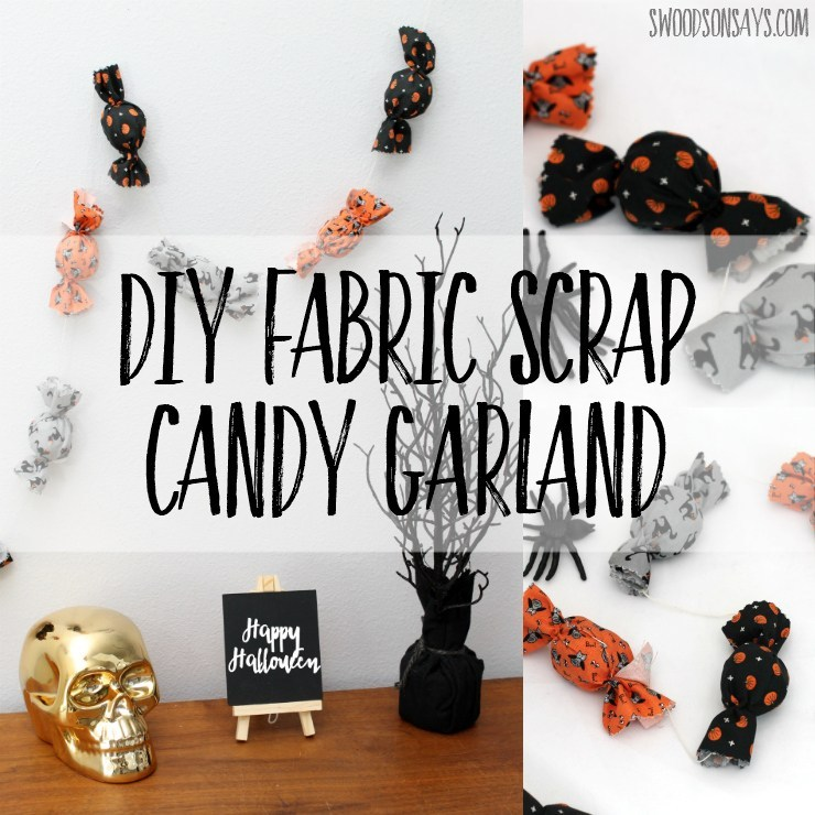 diy fabric scrap candy garland