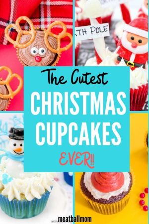 The cutest Christmas Cupcakes ever! #christmascupcakes #christmas #cupcakes #holidaydessert #christmasdesserts #diycupcakes #christmasdiy #holidaybaking