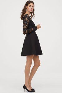 v-neck-lace-dress