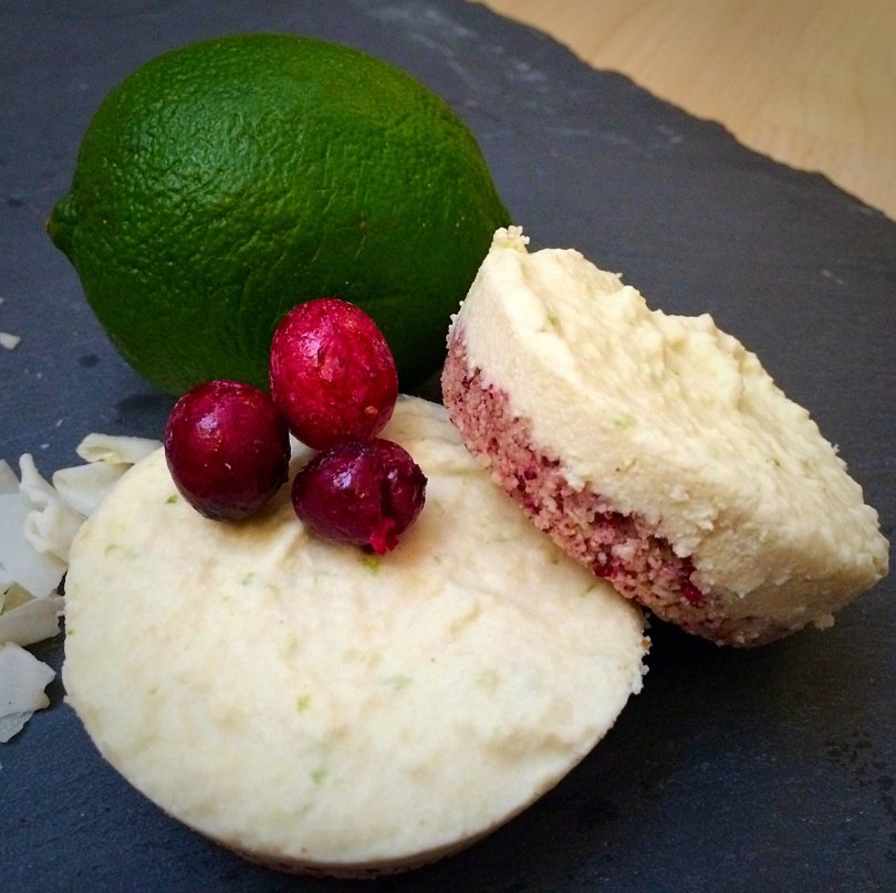 cranberry lime low carb no bake keto cheesecake
